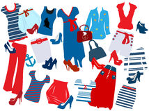 Fashion elements for women. Different fashion elements for women Stock Photography