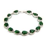 Fashion emerald bracelet isolated on white stock images