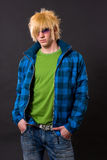 Fashion emo guy portrait Royalty Free Stock Photography
