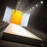 Fashion empty runway. Stock Image