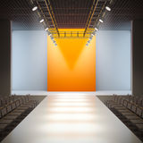Fashion empty runway. A 3D illustration of fashion empty runway Royalty Free Stock Photos