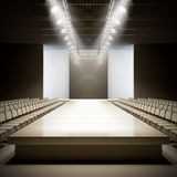 Fashion empty runway. A 3D illustration of fashion empty runway Royalty Free Stock Images