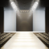 Fashion empty runway. Stock Image