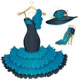 Fashion evening dress Stock Images