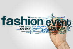 Fashion event word cloud. Concept Royalty Free Stock Photo