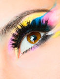 Fashion eye. Long eyelashes and beautiful eye Stock Image