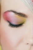 Fashion eye make-up with bright eyeshadow - macro shoot Stock Photo