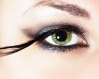 Fashion eye makeup Royalty Free Stock Images