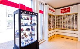 Fashion eyeglasses on display Stock Image