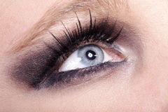 Fashion eyes very close up Stock Photo
