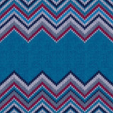 Fashion Fabric Color Swatch. Style Horizontally Seamless Textile. Knitted Patternr Stock Photography