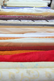 Fashion Fabric Rolls In Retail Market Shop Royalty Free Stock Photos