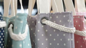 Fashion Fabric Tote Bags Royalty Free Stock Images