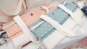 Fashion Fabric Tote Bags Stock Photography