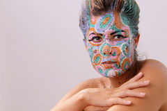 Fashion Face Painting 3 Stock Photography