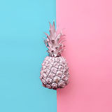 Fashion fake pineapple on exclusive background. Minimal style Royalty Free Stock Photo