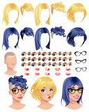 Fashion female avatars Stock Photography
