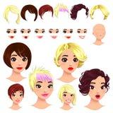 Fashion female avatars. stock images