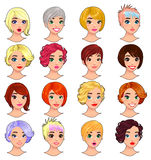 Fashion female avatars. Royalty Free Stock Photo