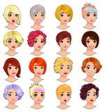 Fashion female avatars. stock illustration