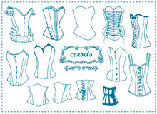 Fashion female corsets Royalty Free Stock Image