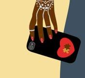 Fashion female hand dark skin accessories Stock Photography