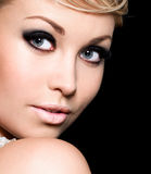 Fashion female make-up Stock Image
