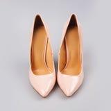 Fashion female pink shoes Royalty Free Stock Image