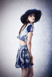 Fashion female with summer clothes Stock Photography