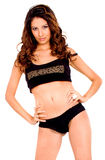 Fashion female in underwear Royalty Free Stock Photos