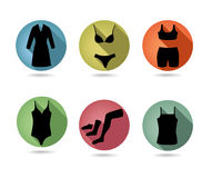 Fashion female underwear set. Button collection. Stock Image