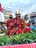 Fashion figures at the event commemorate the independence of indonesia on the road slamet riyadi solo 2017 Stock Images
