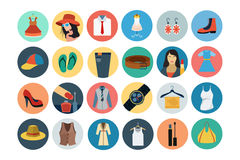 Fashion Flat Icons 1 Royalty Free Stock Photo