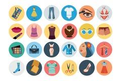 Fashion Flat Icons 3 Royalty Free Stock Photography