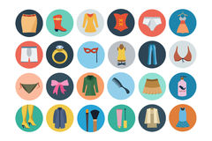 Fashion Flat Icons 2 Stock Photography