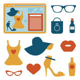 Fashion flat icons Stock Image