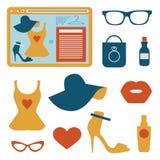 Fashion flat icons Stock Image