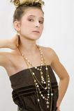 fashion flickajuveluppvisning Royaltyfri Fotografi
