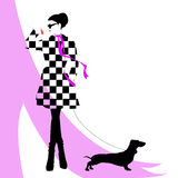 fashion flickan royaltyfri illustrationer