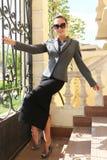 fashion flickan royaltyfria foton