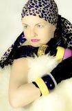 fashion flickan Arkivbilder
