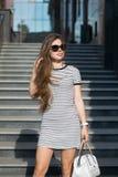 fashion flickan arkivbild