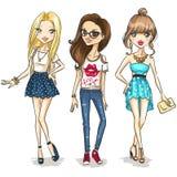 fashion flickor Royaltyfria Foton