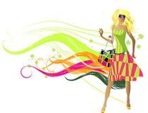 fashion flickor Royaltyfri Bild