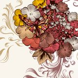 Fashion floral background with flowers Royalty Free Stock Images