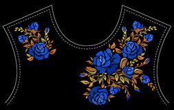 Fashion floral embroidery. Royalty Free Stock Images