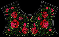 Fashion floral embroidery. Stock Photos