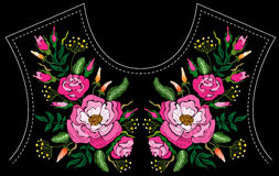 Fashion floral embroidery. Royalty Free Stock Image
