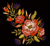Fashion floral embroidery. Royalty Free Stock Photos