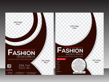 Fashion flyer template design Royalty Free Stock Photography